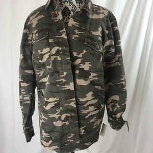 89 $ JAG women's jacket coat camouflage OLIVe sz M